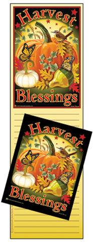 Harvest Blessings Memo Magnet Set  -