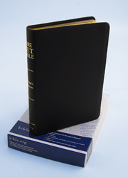 NET Bible Reader's Edition, Genuine top-grain leather Black, large print  -