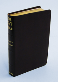 NET Bible, Bonded leather, black Compact Edition  -