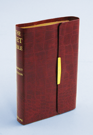 NET Bible, Bonded leather, Amazona red Compact Edition  -