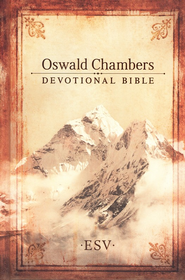 ESV Oswald Chambers Devotional Bible, Hardcover  -