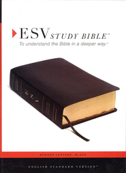 ESV Study Bible--Bonded leather, black  -
