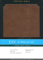 ESV Large Print Bible, TruTone, Brown  -
