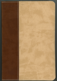 ESV Literary Study Bible--soft leather-look, brown/parchment  -