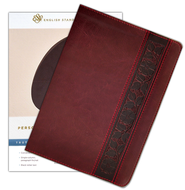 ESV Personal-Size Reference Bible, soft  leather-look, Mahogany with Trellis Design  -