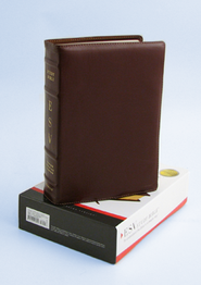 ESV Study Bible, Premium Calfskin Leather, Cordovan  -
