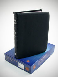 NASB In Touch Ministries Bible, Genuine Leather, Navy Blue   -