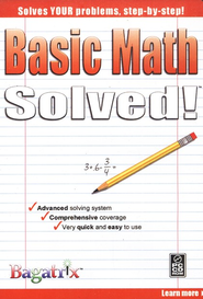 Basic Math Solved! CD-Rom   -