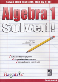 Algebra 1 Solved! CD-Rom   -
