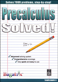 Precalculus Solved! CD-Rom   -