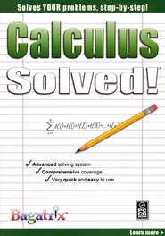 Calculus Solved! CD-Rom   -