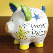 Prayer Piggy Bank with Message Card  -