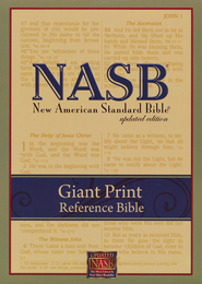 NASB Giant-Print Reference Bible, Imitation leather  Black,    -              By: Bible