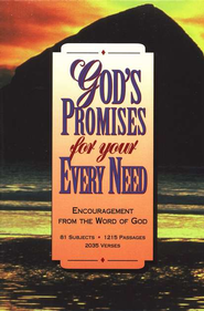 God's Promises for Your Every Need, Bonded leather burgundy - KJV - Slightly Imperfect  -