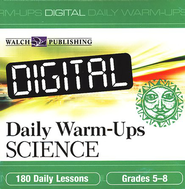 Digital Daily Warm-Ups, Science, Grades 5-8   -