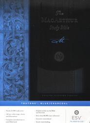ESV MacArthur Study Bible, TruTone, Blue / Charcoal  -
