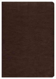 ESV Study Bible--genuine cowhide leather, deep brown - Imperfectly Imprinted Bibles  -