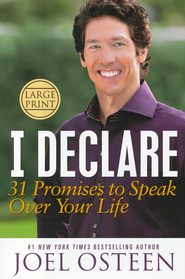 I Declare:  31 Promises to Speak Over Your Life       , Largeprint  -              By: Joel Osteen