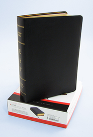 ESV Study Bible, Larger Print, Genuine Leather, Black  -