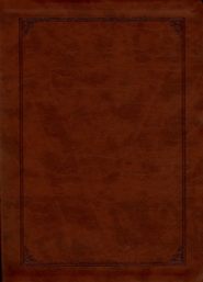 ESV Study Bible, Larger Print, TruTone, Walnut, Frame Design  -