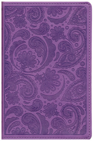 ESV Compact Bible (TruTone, Purple, Paisley Design)  -
