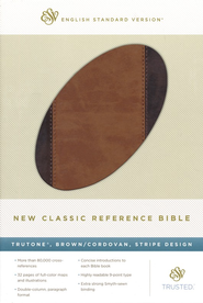 New Classic Reference Bible (TruTone, Brown / Cordovan, Stripe Design)  -