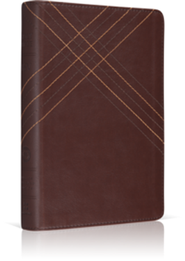 ESV Personal Size Reference Bible TruTone, Brown, CrossWeave Design  -