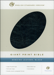 ESV Giant Print Bible Genuine Leather, Black  -
