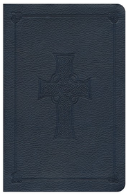 ESV Compact Bible, Blue TruTone with Celtic Cross Design  -