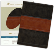 ESV Large Print Bible (TruTone, Forest/Tan, Band Design)  -