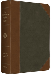 ESV MacArthur Study Bible (TruTone, Forest/Tan, Portfolio Design)  -