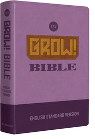 ESV Grow! Bible--soft leather-look, purple  -