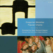 Gregorian Melodies: Popular Chants, Volume 1; Compact Disc [CD]   -     By: Monastic Choir of St. Peter's Abbey, Solesmes