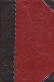 ESV Personal-Size Study Bible, TruTone, Brown/Cordovan Portfolio Design - Imperfectly Imprinted Bibles  -