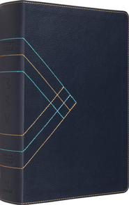 ESV Study Bible, TruTone, Navy, Angle Design  -