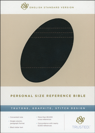 ESV Personal Size Reference Bible, TruTone, Graphite, Stitch Design  -