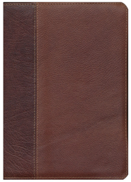 ESV Study Bible (Cowhide, Brown/Chestnut, Vintage Design)  -