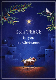 God's Peace to you Christmas Card, Box of 25  -