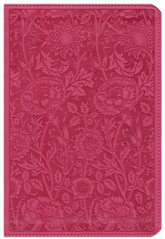 ESV Personal Reference Bible, Berry imitation leather with floral design  -