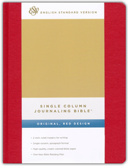 ESV Single Column Journaling Bible (Red)  -