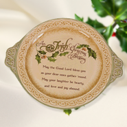 Irish Blessing Christmas Plate  -
