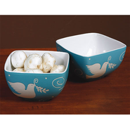Peace Dove Bowls, Set of 2  -