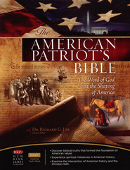 The NKJV American Patriot's Bible, Bonded Leather-Blue - Imperfectly Imprinted Bibles  -