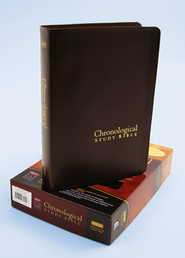The NKJV Chronological Study Bible, Mahogany Genuine Leather  -