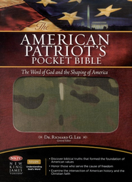 NKJV The American Patriot's Pocket Bible: The Word of God and the Shaping of America - Flexible Cloth/Camo Edition - Slightly Imperfect  -
