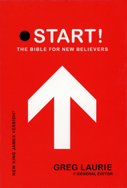 NKJV Start! The Bible for New Believers - LeatherSoft Raven Black  -     Edited By: Greg Laurie