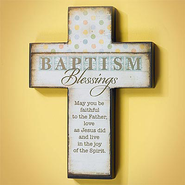 Baptism Blessings Cross  -