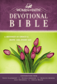 NKJV Women of Faith Devotional Bible: A Message of Grace & Hope for Every Day - Hardcover - Slightly Imperfect  -