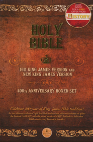 KJV 1611 Bible NKJV Bible, 400th Anniversary 2-Volume Commemorative Set  -