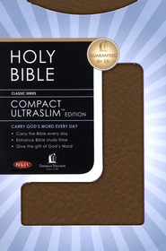 NKJV Compact Ultraslim Bible - LeatherSoft Grain Burgundy  -
